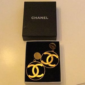 Vintage Gold Chanel Earrings